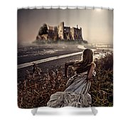 Chasing the Dreams Shower Curtain by Mo T