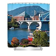Chattanooga Landmarks Shower Curtain by Tom and Pat Cory