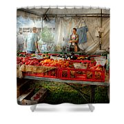 Chef - Vegetable - Jersey Fresh Farmers Market Shower Curtain by Mike Savad