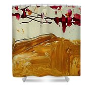 Cherry Blosoms II Shower Curtain by Luz Elena Aponte