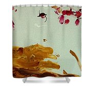 Cherry Blossoms IIi Shower Curtain by Luz Elena Aponte