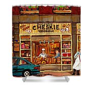 Cheskies Hamishe Bakery Shower Curtain by Carole Spandau