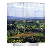 Chianti Region In Italy Shower Curtain by Gregory Ochocki and Photo Researchers