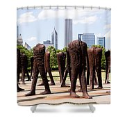 Chicago Agora Headless Statues Shower Curtain by Paul Velgos