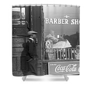 Chicago: Barber Shop, 1941 Shower Curtain by Granger