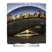 Chicago Cloud Gate At Sunrise Shower Curtain by Sebastian Musial