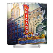 Chicago Theater Shower Curtain by Michael Durst