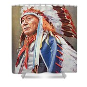 Chief Hollow Horn Bear Shower Curtain by American School