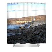 Chief Joseph Dam Shower Curtain by Will Borden