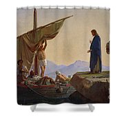 Christ Calling The Apostles James And John Shower Curtain by Edward Armitage