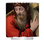 Christ Carrying the Cross Shower Curtain by Andrea Solario
