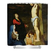 Christ on the Cross Shower Curtain by Gerard de Lairesse