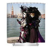 Christine And Gunilla Across St. Mark's  Shower Curtain by Donna Corless