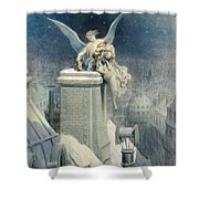 Christmas Eve Shower Curtain by Gustave Dore