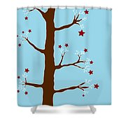 Christmas Tree Shower Curtain by Frank Tschakert