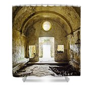 Church Ruin Shower Curtain by Carlos Caetano