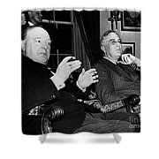 CHURCHILL & ROOSEVELT Shower Curtain by Granger