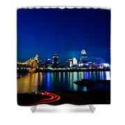Cincinnati Boom Shower Curtain by Keith Allen