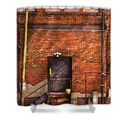 City - Door - The Back Door  Shower Curtain by Mike Savad