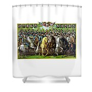 Civil War Generals And Statesman Shower Curtain by War Is Hell Store
