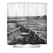Civil War: Quaker Guns Shower Curtain by Granger