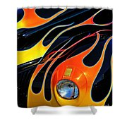 Classic Flames Shower Curtain by Perry Webster