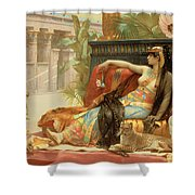 Cleopatra Testing Poisons on Those Condemned to Death Shower Curtain by Alexandre Cabanel