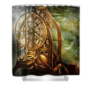 Clockmaker - The Day Time Stood Still  Shower Curtain by Mike Savad