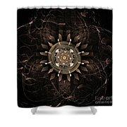 Clockwork Shower Curtain by John Edwards
