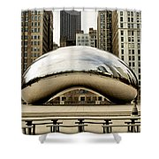 Cloud Gate - 3 Shower Curtain by Ely Arsha