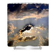 Cloud Nine 4 Shower Curtain by Will Borden