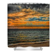 Cloudy Sunrise Shower Curtain by Dave Bosse