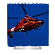 Coast Guard Helicopter Shower Curtain by Stocktrek Images