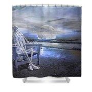 Coastal Tales Shower Curtain by Betsy C  Knapp