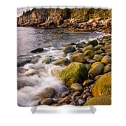 Cobble Sunrise Shower Curtain by Susan Cole Kelly