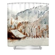 Cold Cove Shower Curtain by Seth Weaver