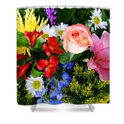 Color Explosion Shower Curtain by Kristin Elmquist