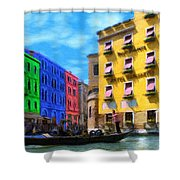 Colors Of Venice Shower Curtain by Jeff Kolker