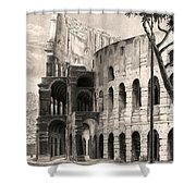 Colosseo Shower Curtain by Norman Bean