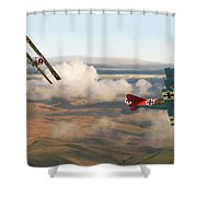 Colourful Encounter Shower Curtain by Pat Speirs
