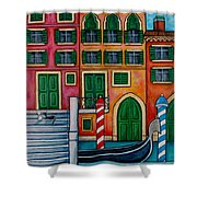 Colours Of Venice Shower Curtain by Lisa  Lorenz