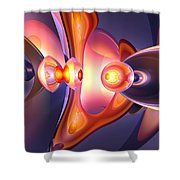 Combustion Abstract Shower Curtain by Alexander Butler