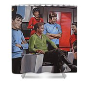 Comic Relief Shower Curtain by Kim Lockman