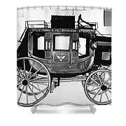 Concord Stagecoach Shower Curtain by Photo Researchers, Inc.