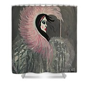 Concrete Angel Shower Curtain by LKB Art and Photography