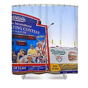 Coney Island Memories 10 Shower Curtain by Madeline Ellis