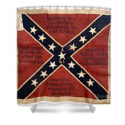 CONFEDERATE FLAG, 1863 Shower Curtain by Granger