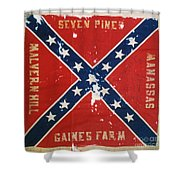 Confederate Flag Shower Curtain by Granger