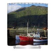 Connemara, Co Galway, Ireland Fishing Shower Curtain by The Irish Image Collection
