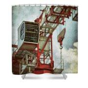 Construction Crane Shower Curtain by Wim Lanclus